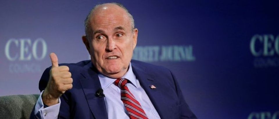 Rudy Giuliani, vice chairman of the Trump Presidential Transition Team, speaks in Washington.