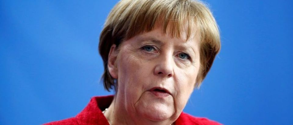 German Chancellor Merkel attends news conference in Berlin