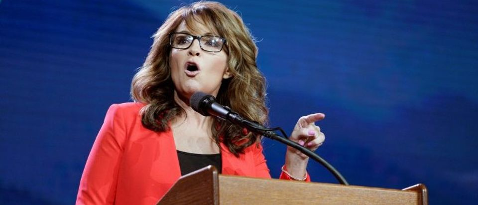 Sarah Palin speaks at the Western Conservative Summit in Denver