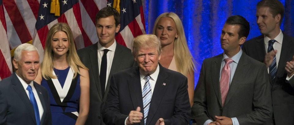 Donald Trump, Mike Pence and Family: Lev Radin/shutterstock.com