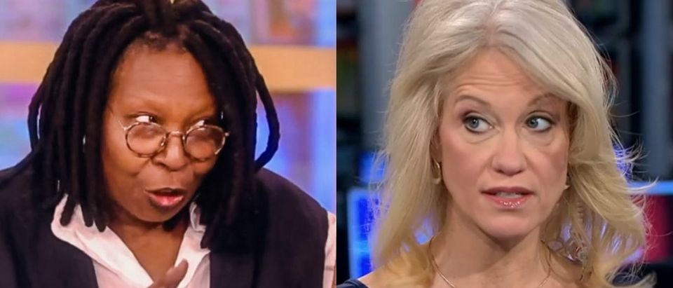 Kellyanne Conway and Whoopi Goldberg