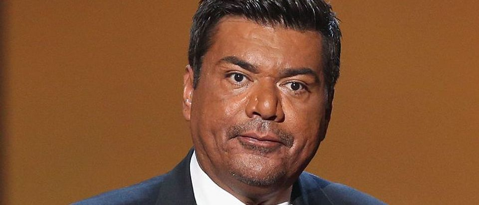 Actor George Lopez onstage at the 2012 NCLR ALMA Awards at Pasadena Civic Auditorium on September 16, 2012 in Pasadena, California. (Photo by Jesse Grant/Getty Images for NCLR)