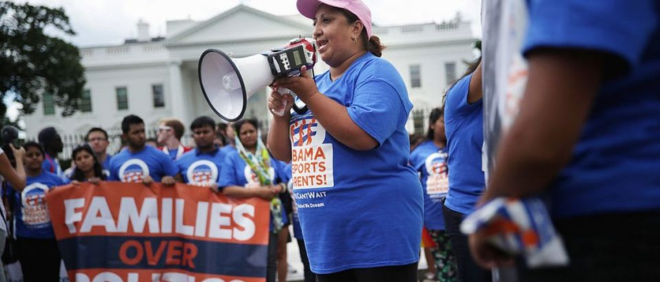 """DREAMers"" Hold Rally On Immigration At White House"