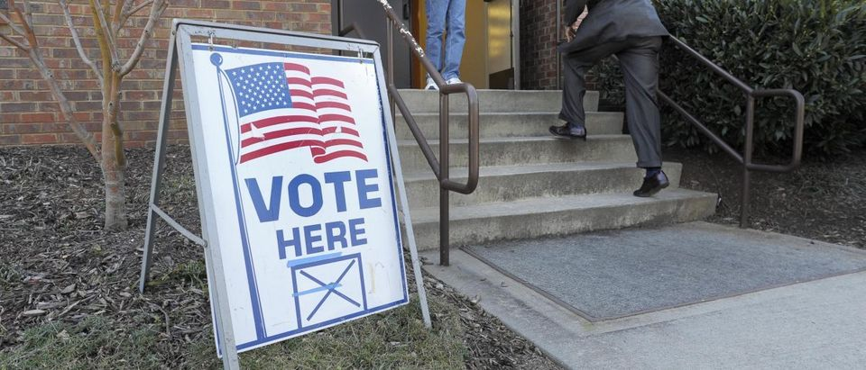 Voters Cast ballots in the U.S. Republican presidential primary on Super Tuesday