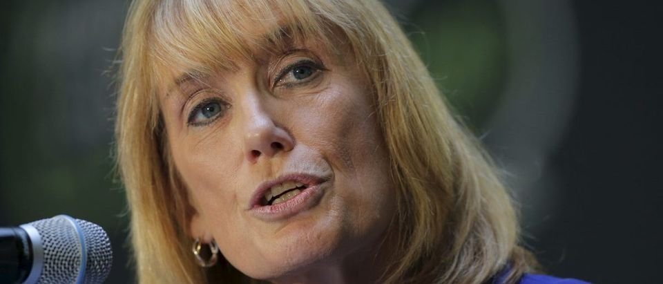 New Hampshire Governor Maggie Hassan speaks at the No Labels Problem Solver Convention in Manchester