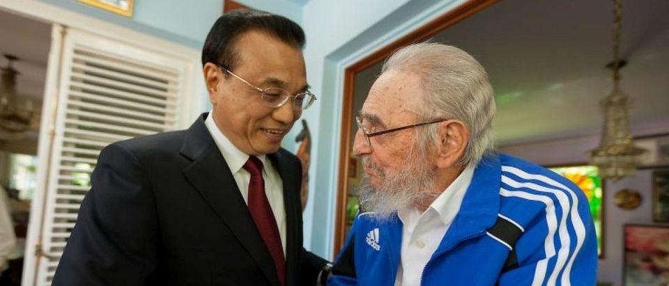 Cuba's former President Fidel Castro and Chinese Premier Li Keqiang meet in Havana, Cuba