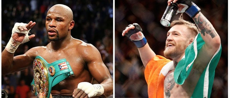 Floyd Mayweather, Conor McGregor is one of the most promoted prime-time fights ever. (Credit: Getty Images)