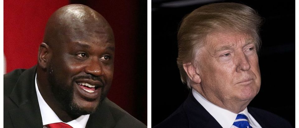 Shaq, Donald Trump (Getty Images)