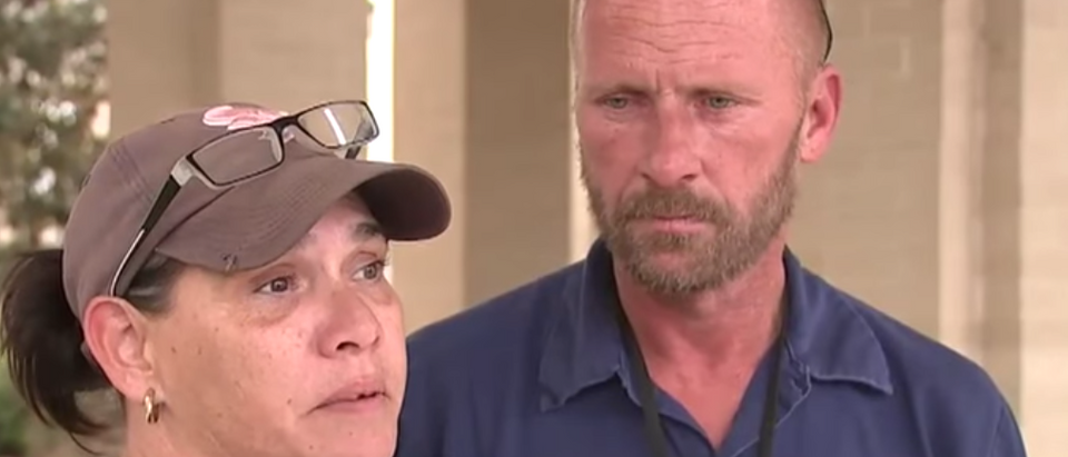 The parents of the boy who was beaten for voting Trump in a mock election. (Youtube screenshot/FOX 26)