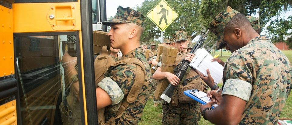 Last recruits evacuate Parris Island ahead of Hurricane Matthew