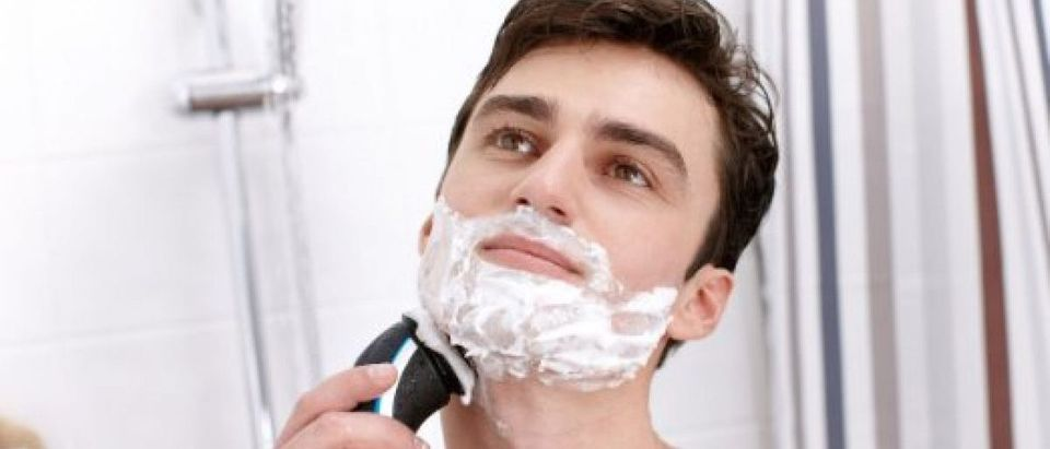 I have this shaver, but this is not a picture of me