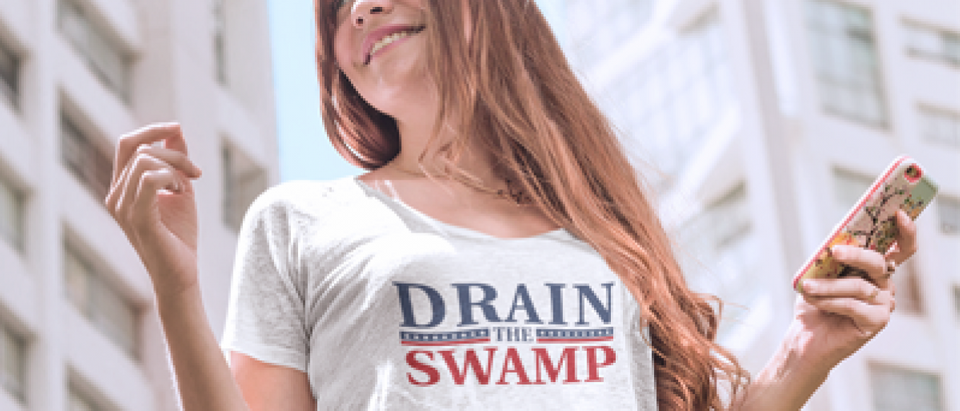 This girl knows it is time to Drain the Swamp (Placeit)