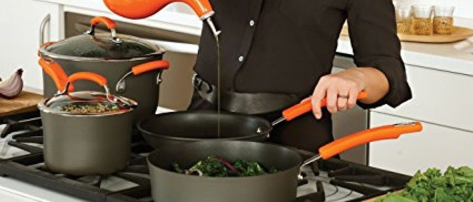 Rachael Ray uses her skillet