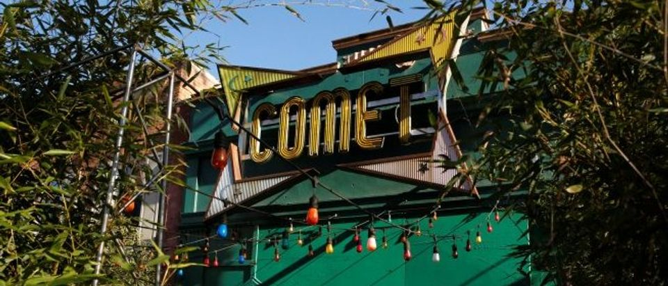 A general view of the exterior of the Comet Ping Pong pizza restaurant in Washington
