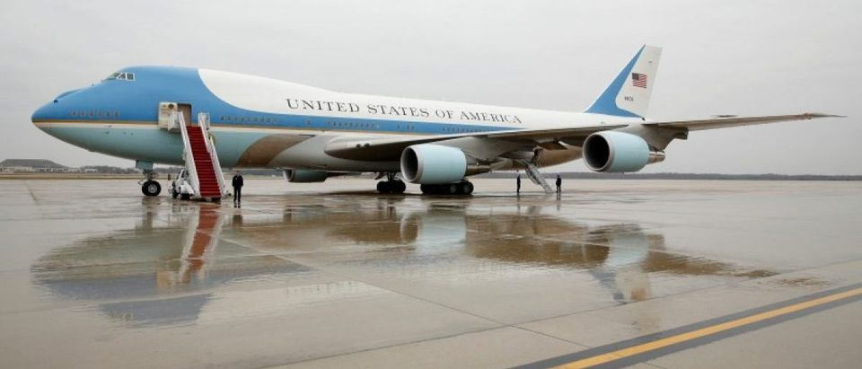 AIr Force One at Joint Base Andrews in Washington
