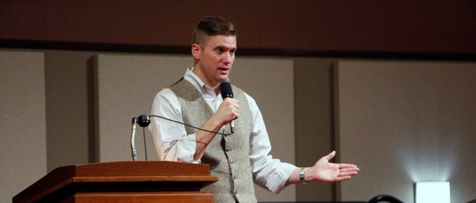White nationalist leader Richard Spencer of the National Policy Institute speaks on campus at an event not sanctioned by the school, at Texas A&M University in College Station, Texas