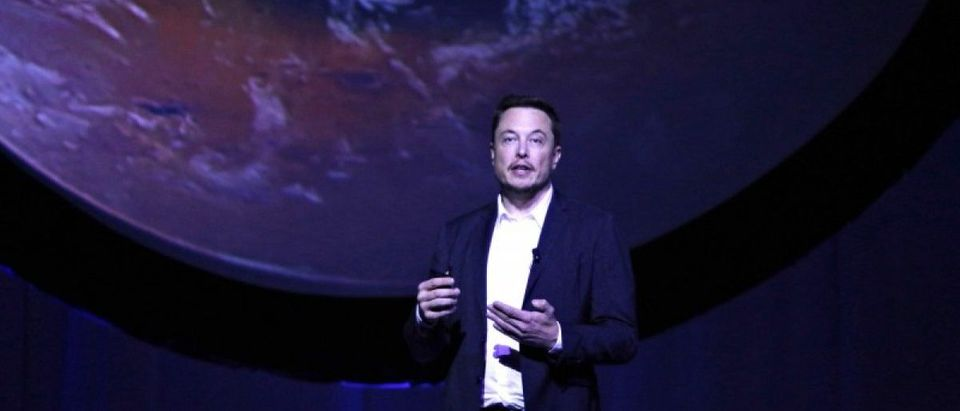 SpaceX CEO Elon Musk unveils his plans to colonize Mars during the International Astronautical Congress in Guadalajara, Mexico, on September 27, 2016. REUTERS/Stringer