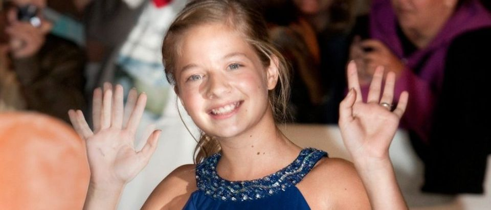 Jackie Evancho arrives at the gala of the film 'The Company You Keep' during the 37th Toronto International Film Festival