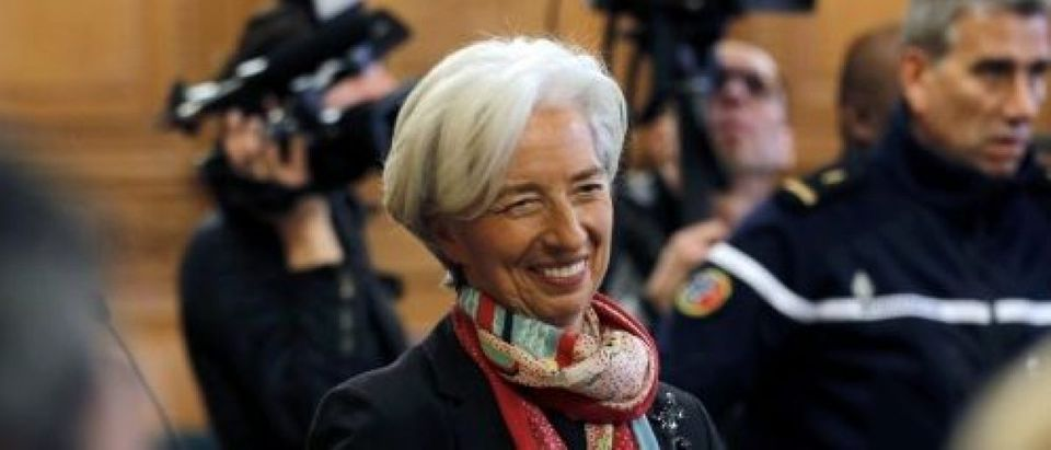 Managing Director of the International Monetary Fund Christine Lagarde is seen before the start of her trial about a state payout in 2008 to a French businessman, at the courts in Paris