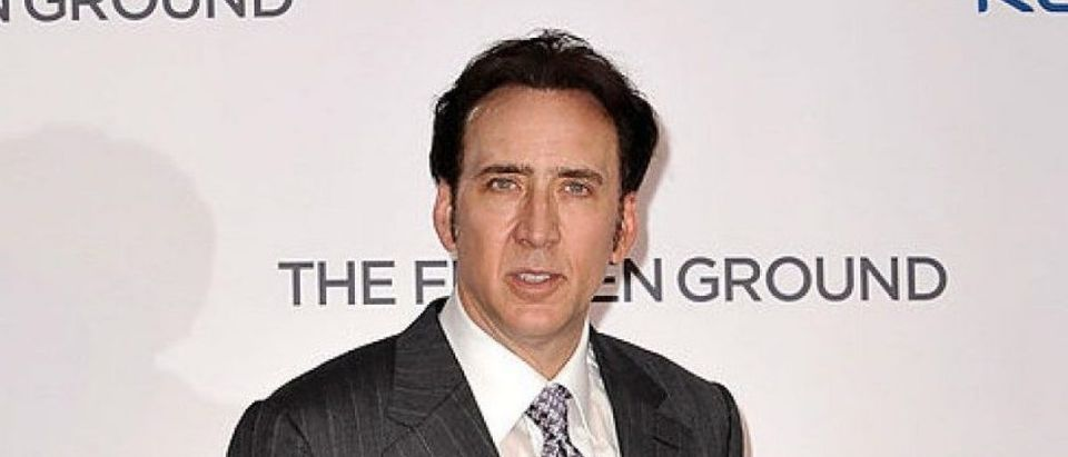 Actor Nicolas Cage attends the UK Premiere of 'The Frozen Ground' at Vue West End on July 17, 2013 in London. (Photo by Gareth Cattermole/Getty Images)