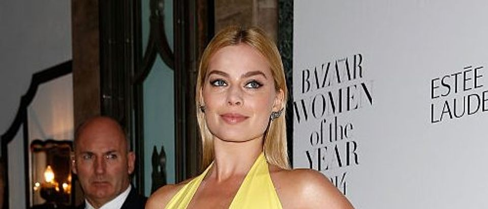 Margot Robbie attends the Harpers Bazaar Women of the Year awards. (Photo by Tim P. Whitby/Getty Images)