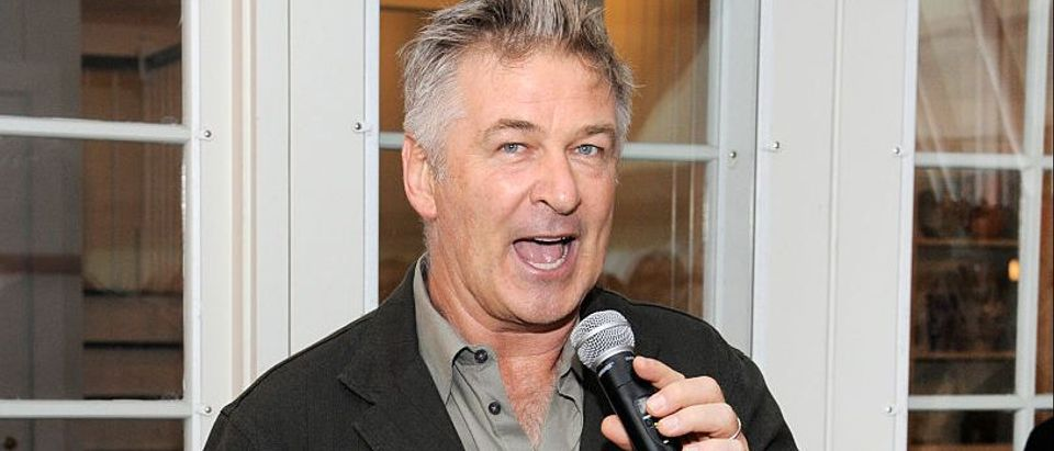 HIFF Co-Chair Alec Baldwin speaks at the Chairman's Reception during the Hamptons International Film Festival 2016 at Stuart Match Suna's Residence on October 9, 2016 in East Hampton, New York. (Photo by Matthew Eisman/Getty Images for Hamptons International Film Festival)