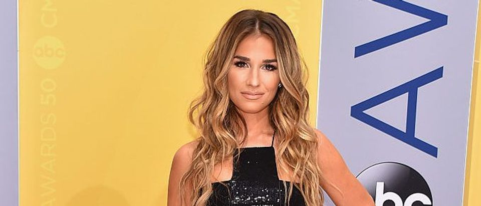 Singer Jessie James Decker attends the 50th annual CMA Awards at the Bridgestone Arena on November 2, 2016 in Nashville, Tennessee. (Photo by Michael Loccisano/Getty Images)