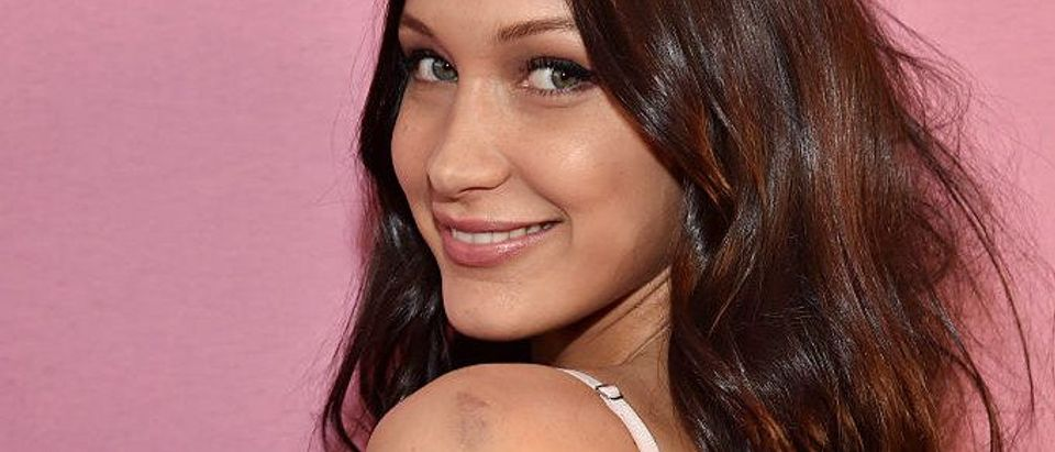 Bella Hadid poses prior the 2016 Victoria's Secret Fashion Show on November 30, 2016 in Paris, France. (Photo by Pascal Le Segretain/Getty Images for Victoria's Secret)