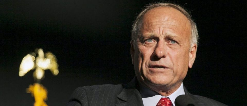 Iowa Representative Steve King speaks at the Iowa Faith and Freedom Coalition Forum in Des Moines