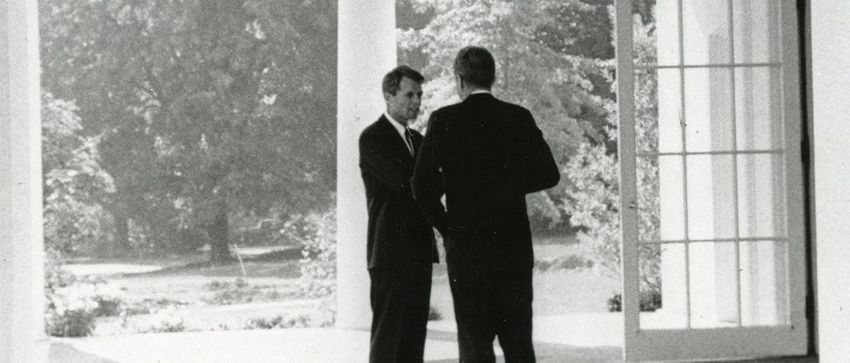 John F. Kennedy meets with his brother, former Attorney General Robert F. Kennedy, at the White House in Washington. REUTERS/Cecil Stoughton /The White House/John F. Kennedy Presidential Library.