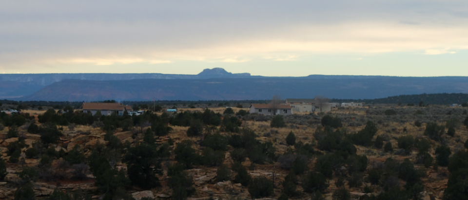 The Bears Ears are clearly visible towards the East of Blanding.(Joseph Hammond/TheDCNF)