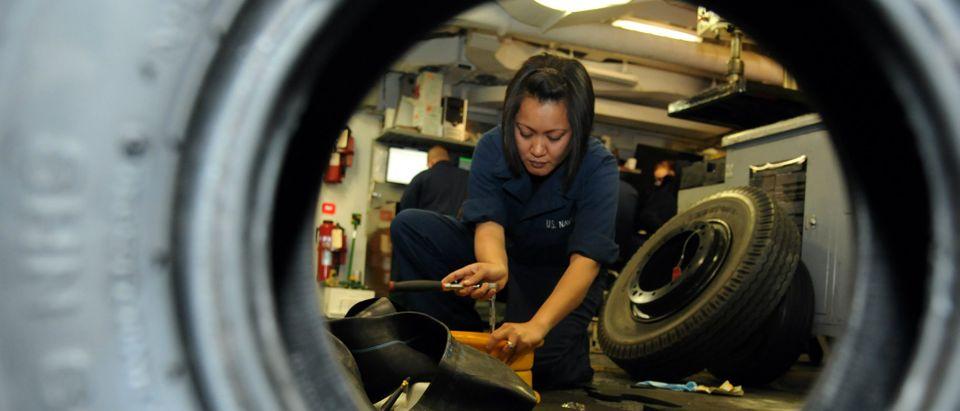 navy sailor woman