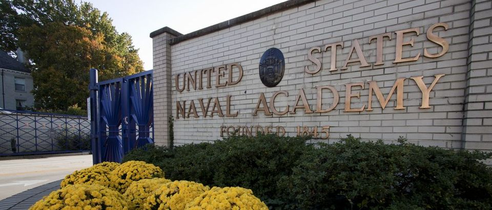 The entrance to the U.S. Naval Academy in downtown Annapolis, Md. on October 21, 2012. The campus founded in 1845 is located on the former grounds of Fort Severn. (Photo: Shutterstock)
