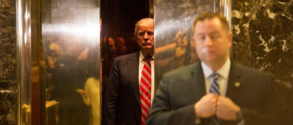 U.S. President-elect Donald Trump at Trump Tower in Manhattan