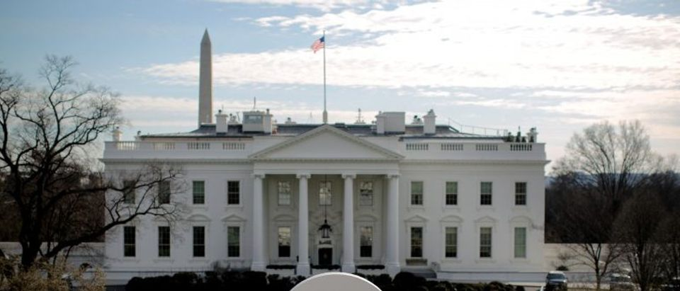 A reviewing stand is seen outside of the White House for the upcoming presidential inauguration in Washington, U.S.