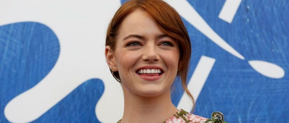 "Actress Emma Stone while attending the photocall for the movie ""La La Land"" at the 73rd Venice Film Festival in Venice"