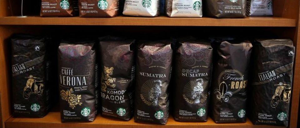Starbucks coffee is seen in Los Angeles