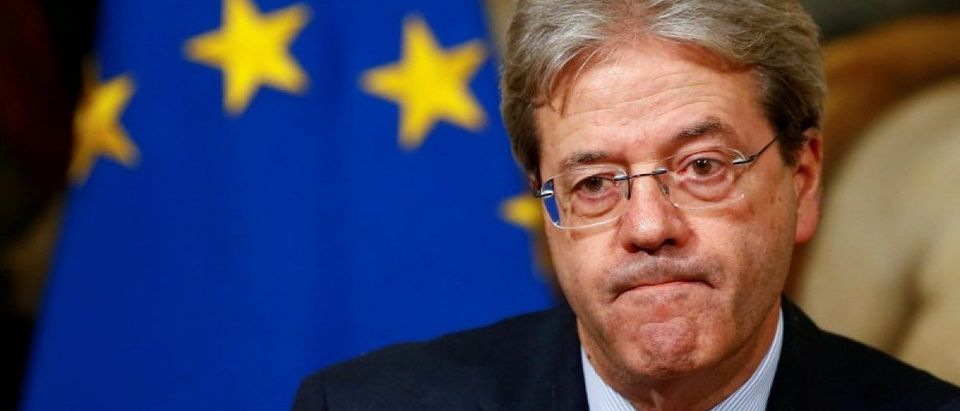 FILE PHOTO: Italian Prime Minister Paolo Gentiloni attends a news conference at Chigi Palace in Rome