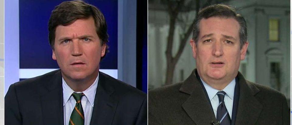 Tucker Carlson And Ted Cruz (Photo: Fox News screen grab)