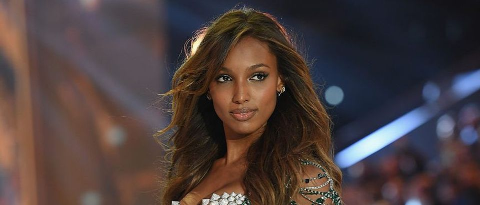Jasmine Tookes walks the runway during the 2016 Victoria's Secret Fashion Show on November 30, 2016 in Paris. (Photo by Dimitrios Kambouris/Getty Images for Victoria's Secret)