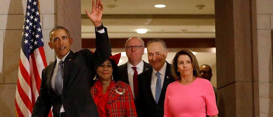 President Obama Meets With Democratic Lawmakers On Capitol Hill
