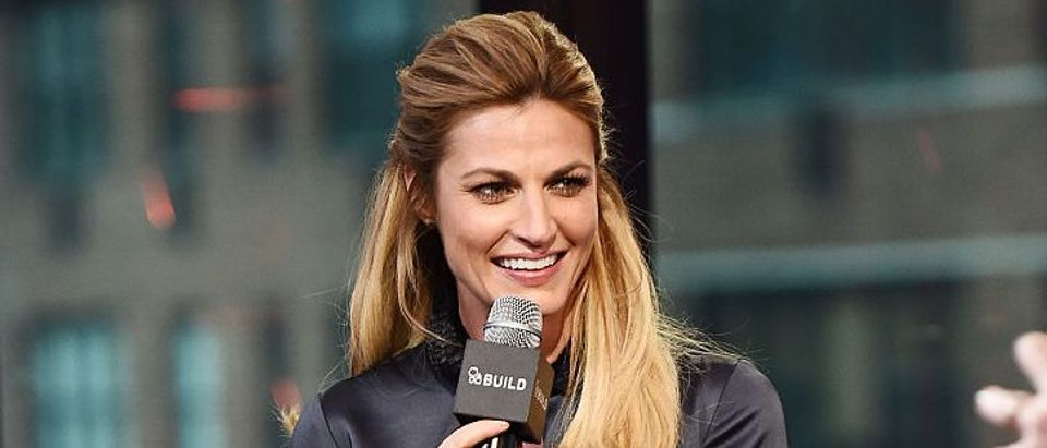 "Erin Andrews attends the Build Presents Discussing ""Orange Theory"" at AOL HQ on January 10, 2017 in New York City. (Photo by Nicholas Hunt/Getty Images)"