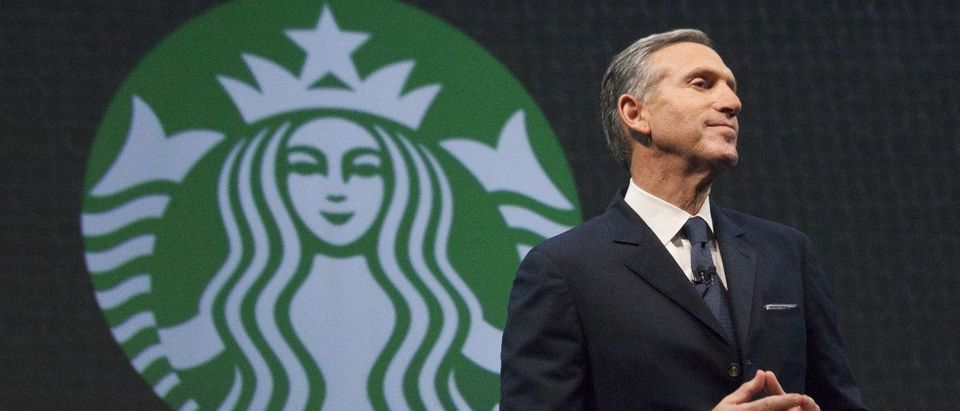 Starbucks Chief Executive Howard Schultz speaks during the company's annual shareholder's meeting in Seattle, Washington March 18, 2015. REUTERS/David Ryder