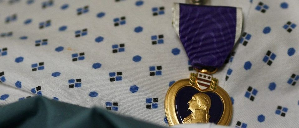 A federal employee lied about having two Purple Hearts for decades. REUTERS/Kai Pfaffenbach