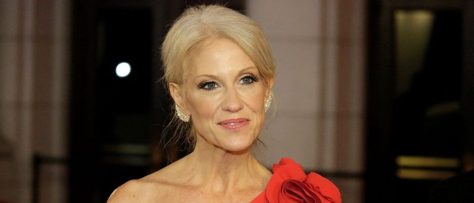 Advisor to President-elect Donald Trump, Kellyanne Conway arrives to attend a candlelight dinner at Union Station on the eve of the 58th Presidential Inauguration in Washington