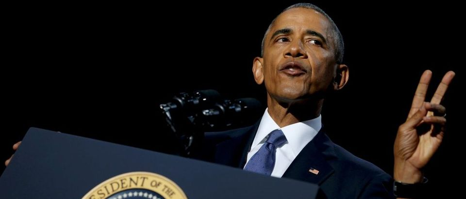 U.S. President Barack Obama delivers his farewell address in Chicago