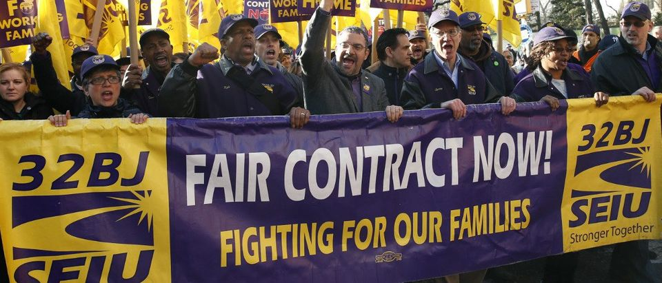 SEIU Banner: Reuters/Mike Segar