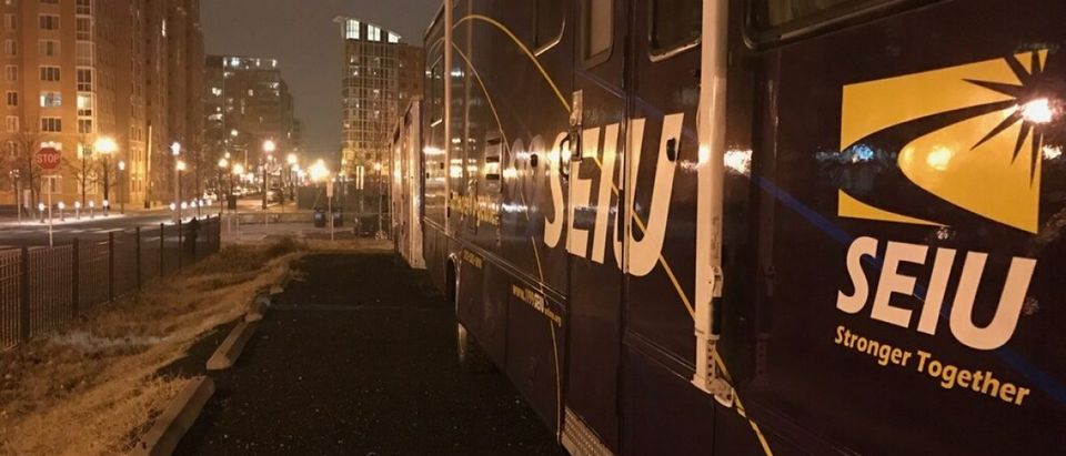SEIU Buses in Washington, D.C.: Ted Goodman/The Daily Caller News Foundation