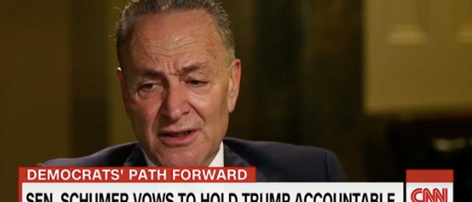 Chuck Schumer (Screen capture from CNN's Twitter video)