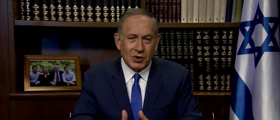 Israeli PM Benjamin Netanyahu (You Tube IsraeliPM screen shot)